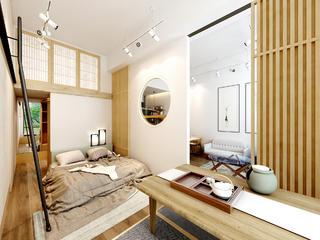 日式一居装修卧室设计图