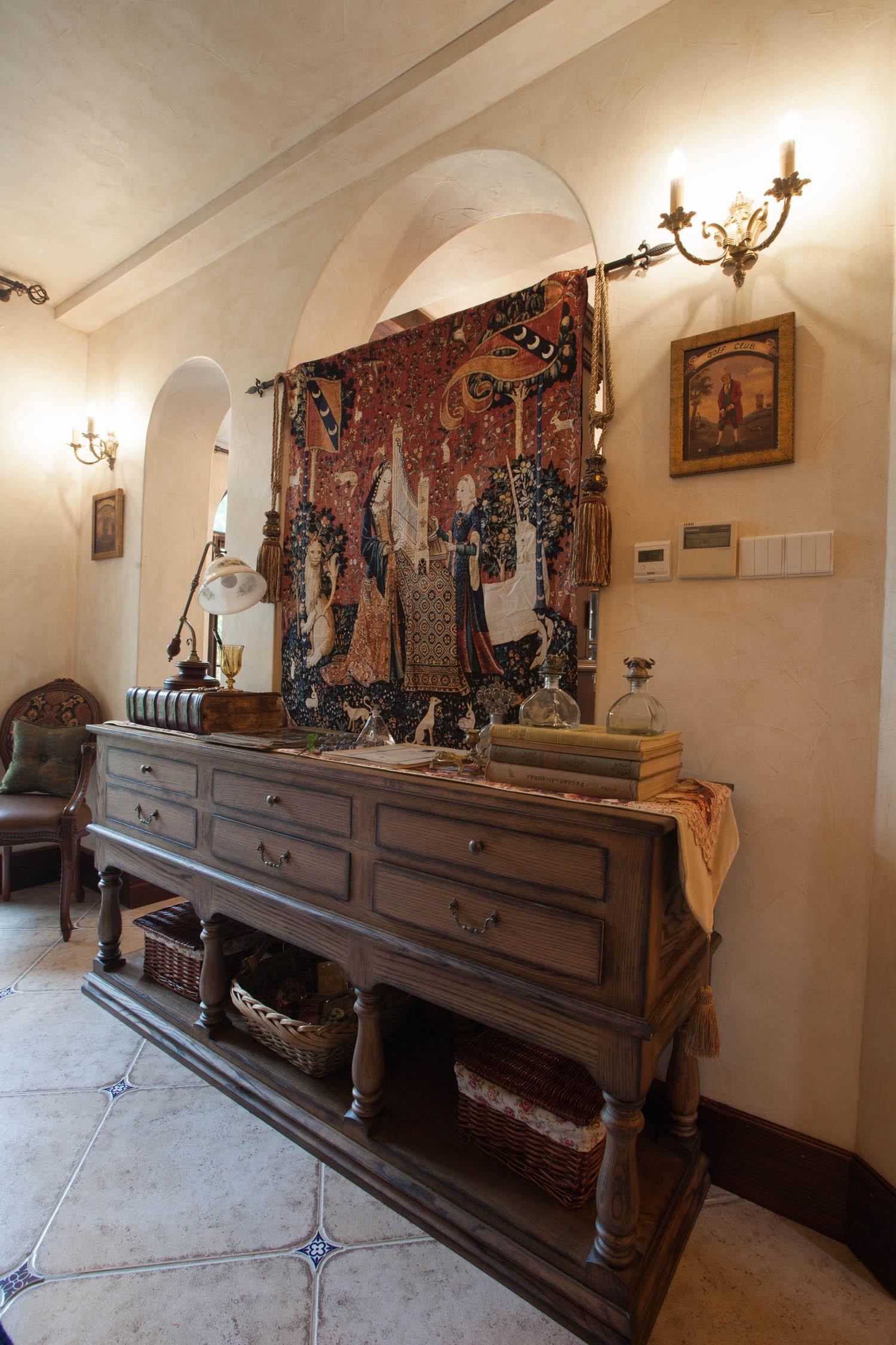 美式乡村别墅装修装饰柜图片