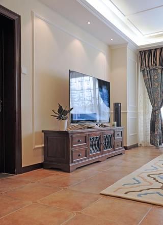 大户型美式风格装修电视墙图片