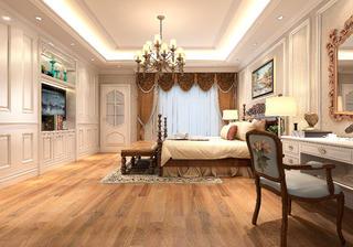 法式轻奢风格别墅装修主卧设计图