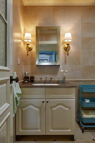 简美二居装修洗手台图片