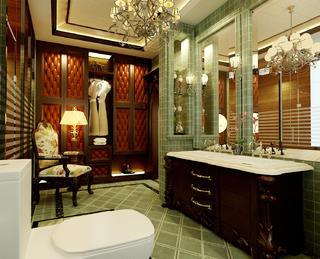 美式风格别墅装修卫生间效果图