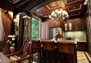 美式风格别墅装修餐厅吊顶