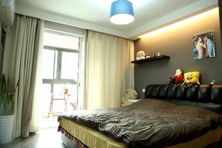 78平简约风格公寓装修卧室背景墙图片
