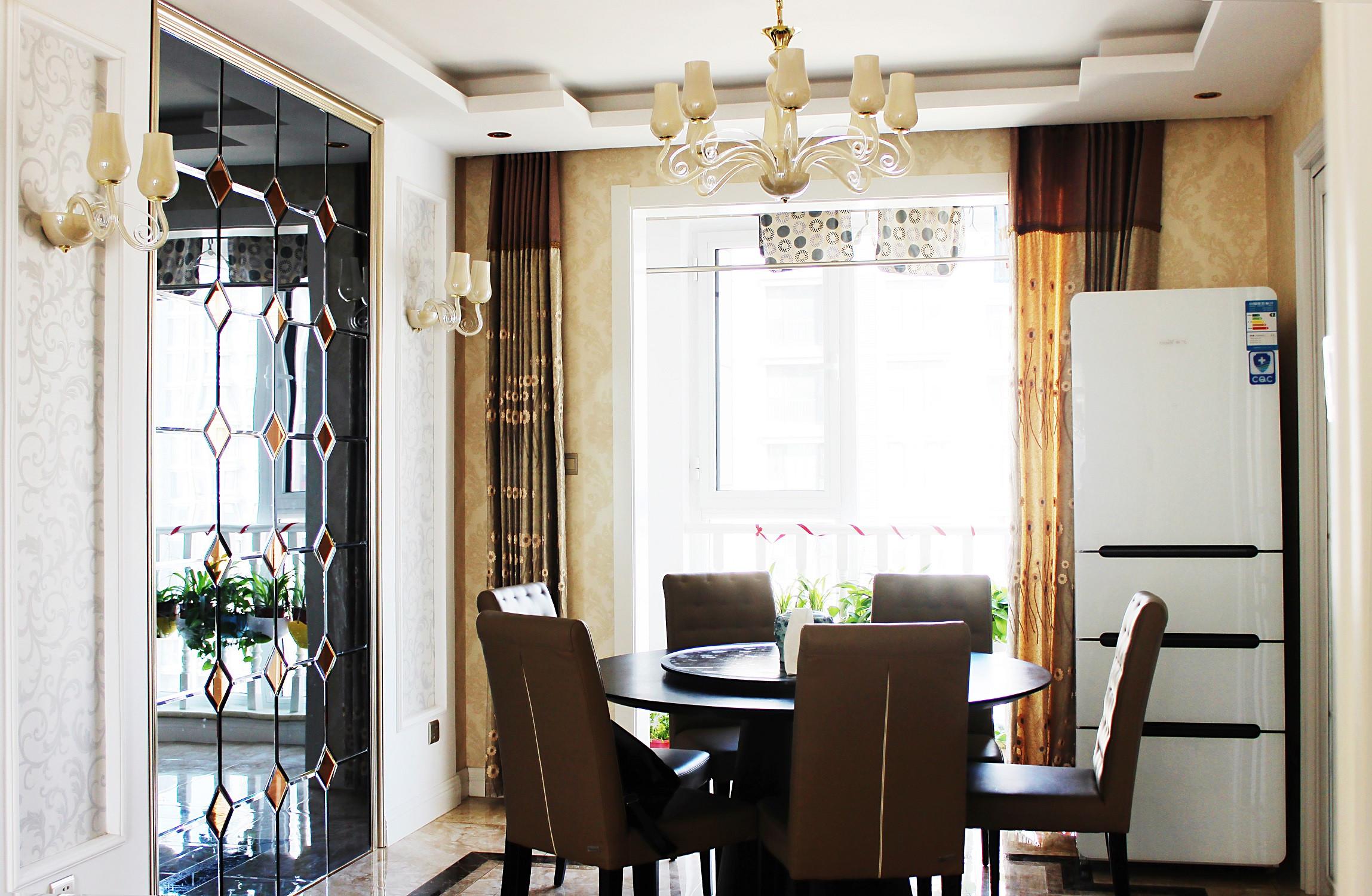 欧式风格装修餐厅装潢图