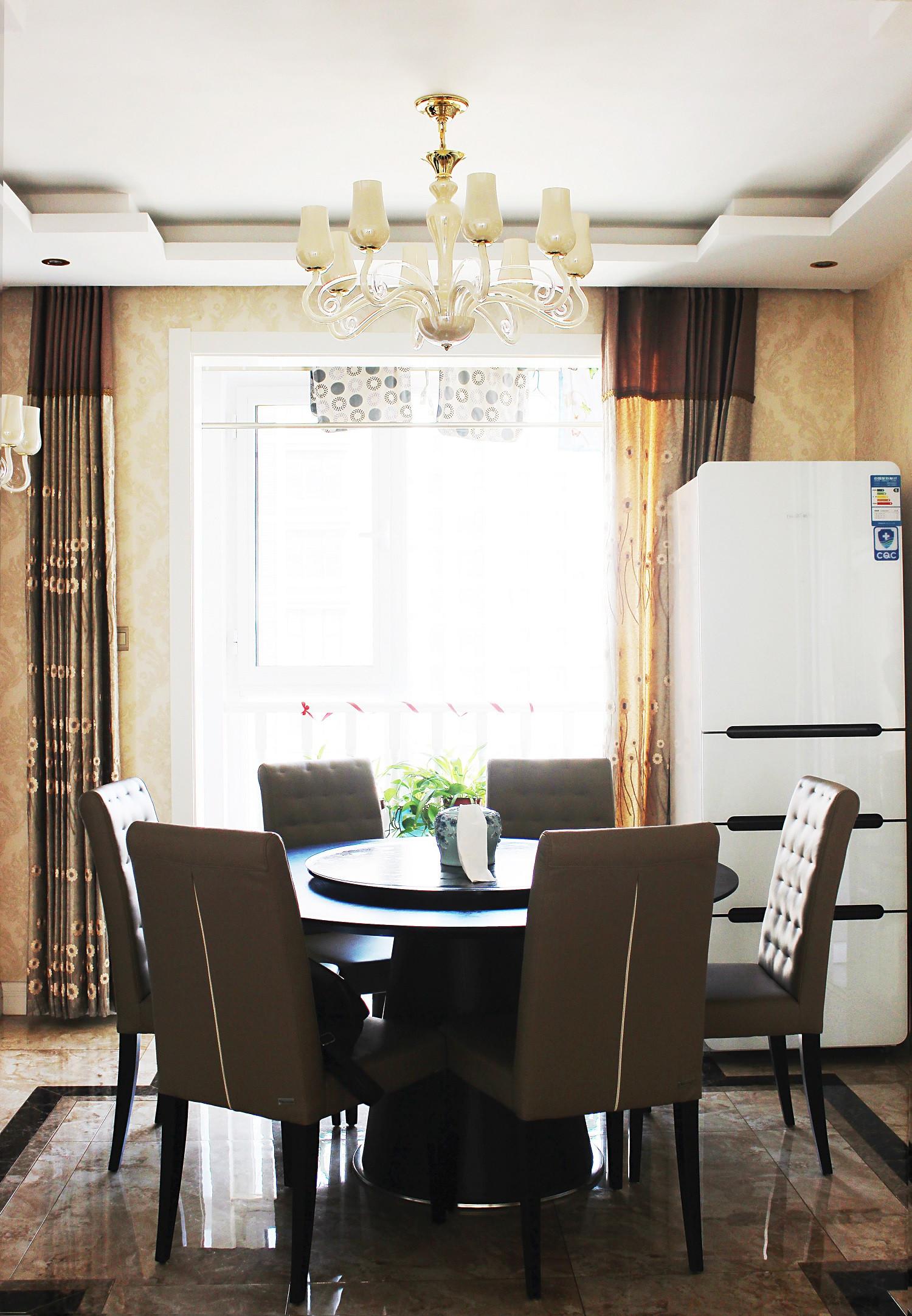 欧式风格装修餐桌椅图片