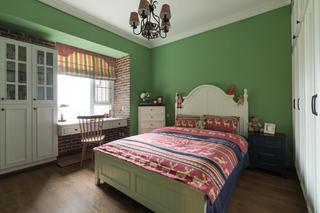 三居室美式装修女儿房设计