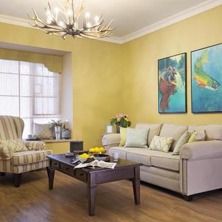三居室美式装修设计 暖黄之家
