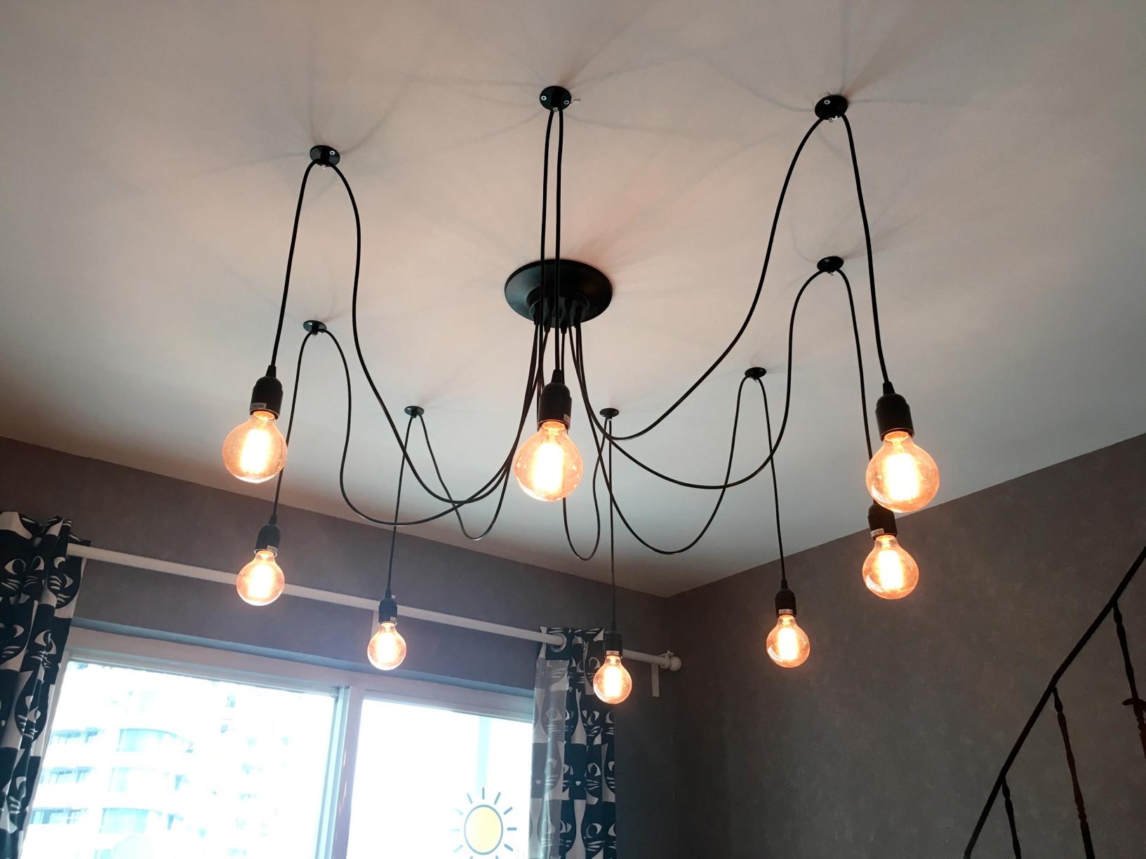 北欧小户型装修客厅吊灯