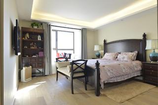 三居室中式风格家卧室设计图