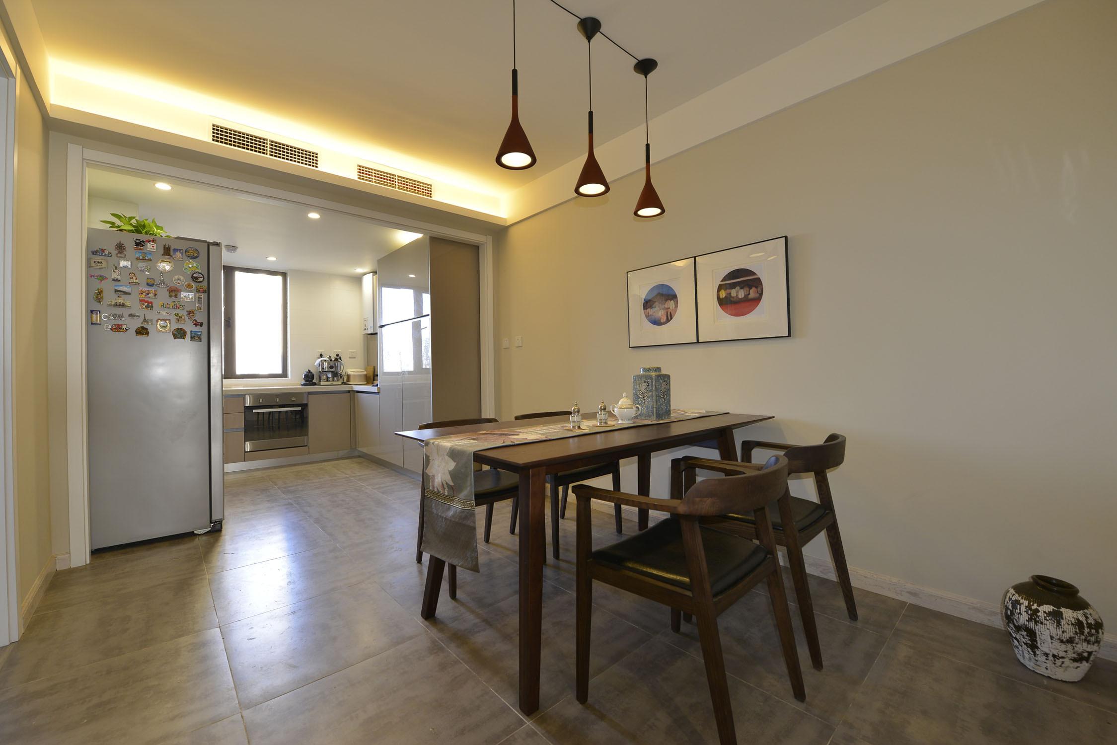 三居室中式风格家餐厅效果图