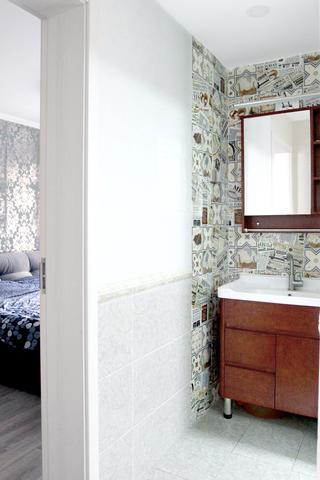 混搭二居装修洗手台设计