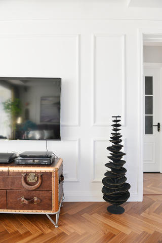 混搭三居之家电视背景墙图片