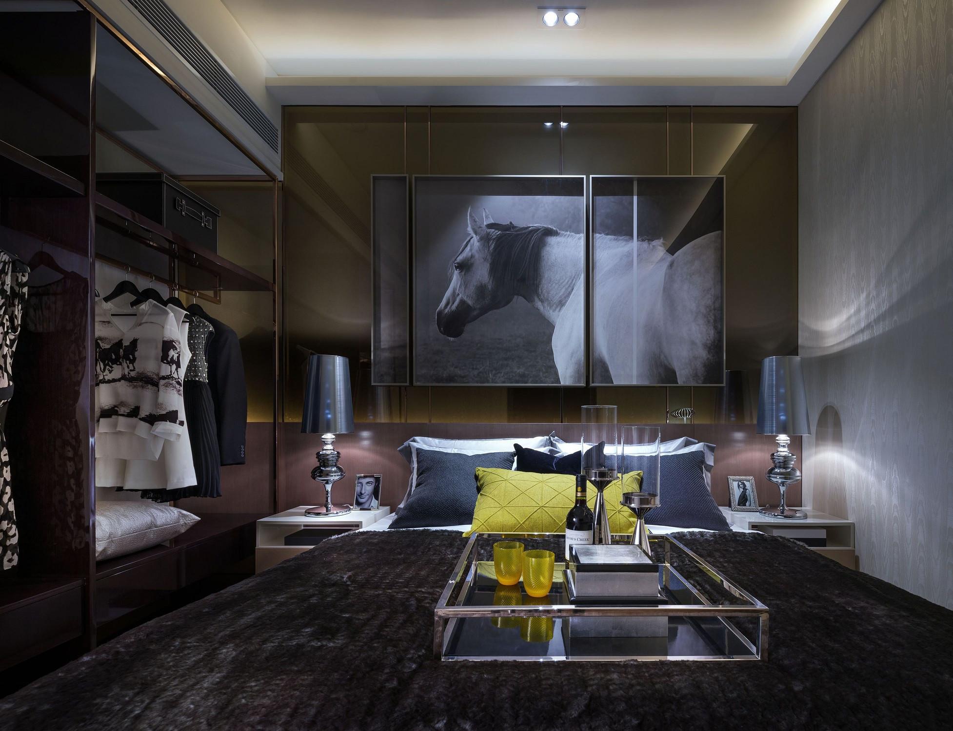 低调奢华的现代风装修卧室效果图