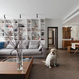 148平简约风格三居装修设计图
