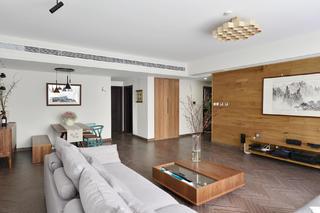 148平简约风格三居装修客厅吊顶