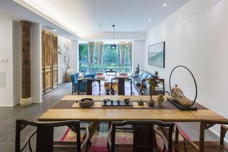 150平三居装修餐桌图片