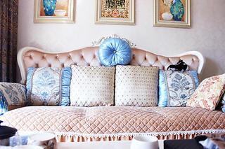 80平欧式风格家沙发图片