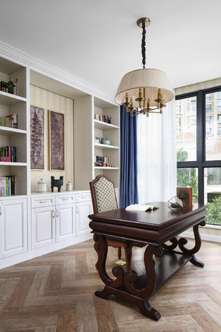 美式风格别墅装修书房设计图