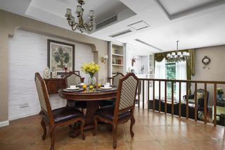 美式风格别墅装修餐厅背景墙图片