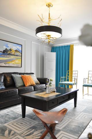 140平美式三居装修茶几图片