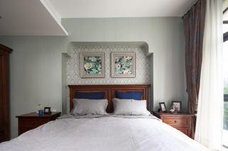 美式风格别墅装修卧室背景墙图片