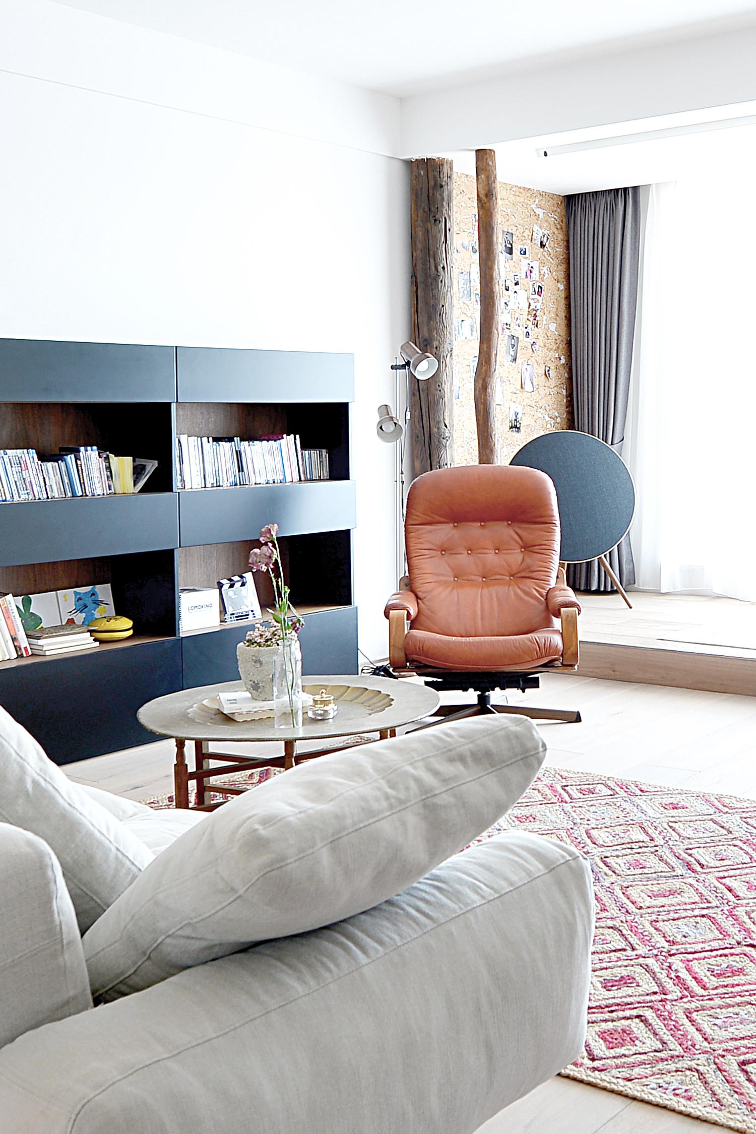 120平北欧风装修书柜设计
