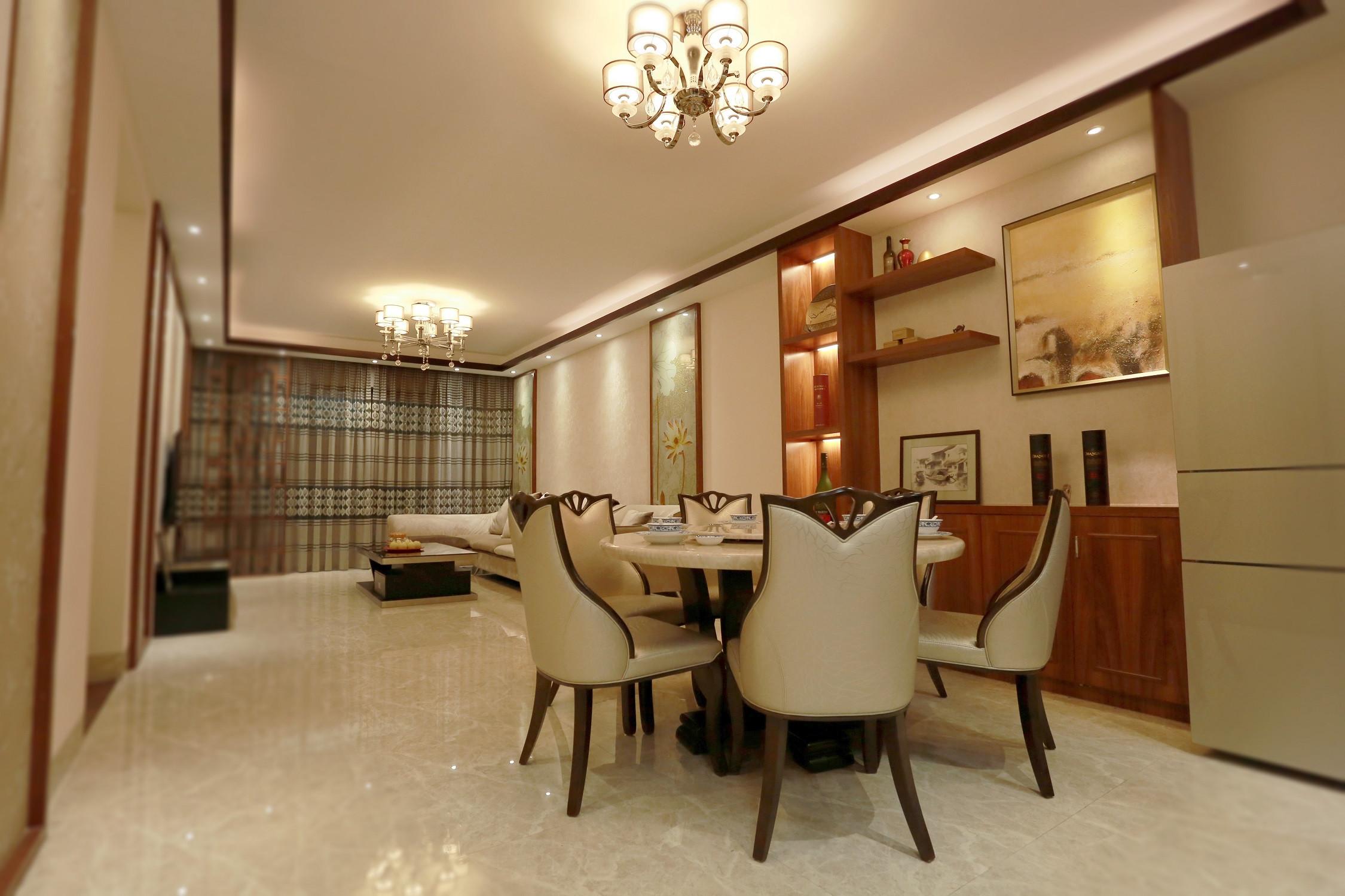 新中式风格三居餐厅效果图