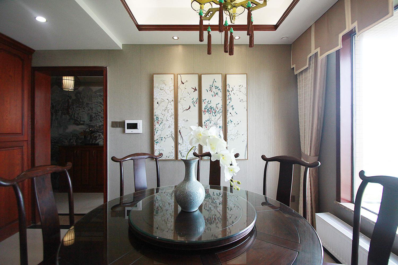 中式风装修餐厅背景墙图片