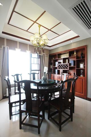 中式风装修酒柜图片