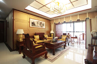 中式风装修客厅设计图