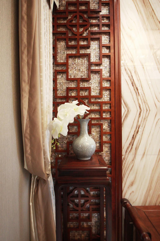 中式风装修客厅一角