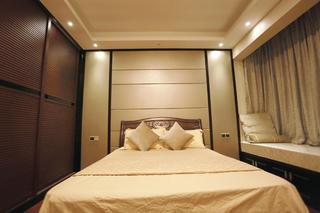 新中式风格三居卧室背景墙图片
