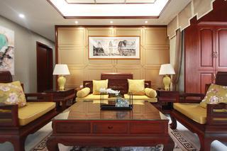 中式风装修沙发背景墙图片