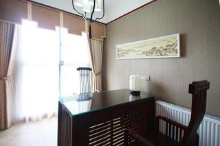 中式风装修书房布置图