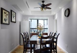 145㎡美式四居室装修餐厅设计图