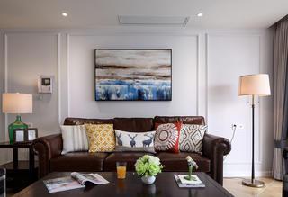 145㎡美式四居室装修沙发背景墙图片