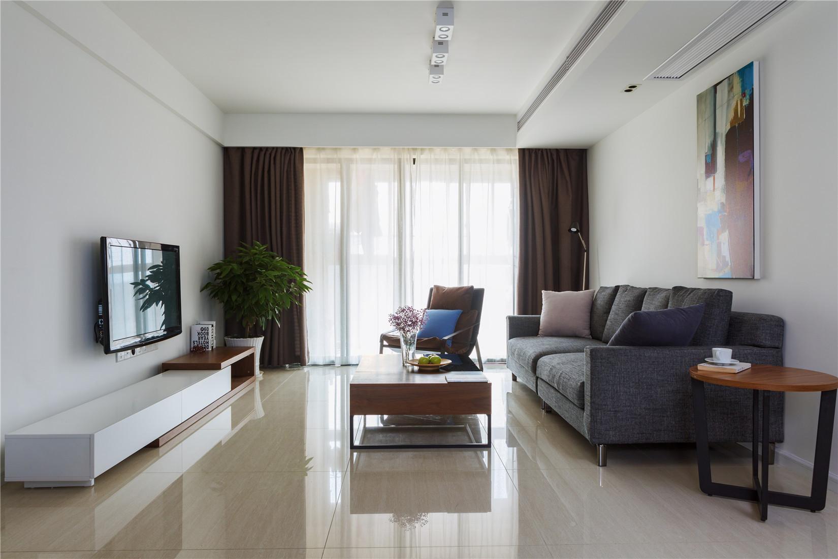 120㎡简约风格家客厅设计图