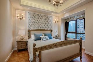 现代美式二居装修卧室搭配图