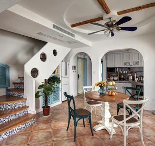 地中海风格复式装修餐厅布置图