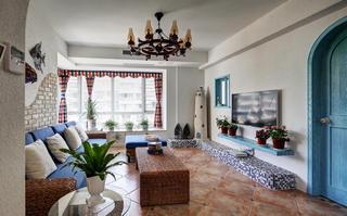 地中海风格复式装修客厅设计图