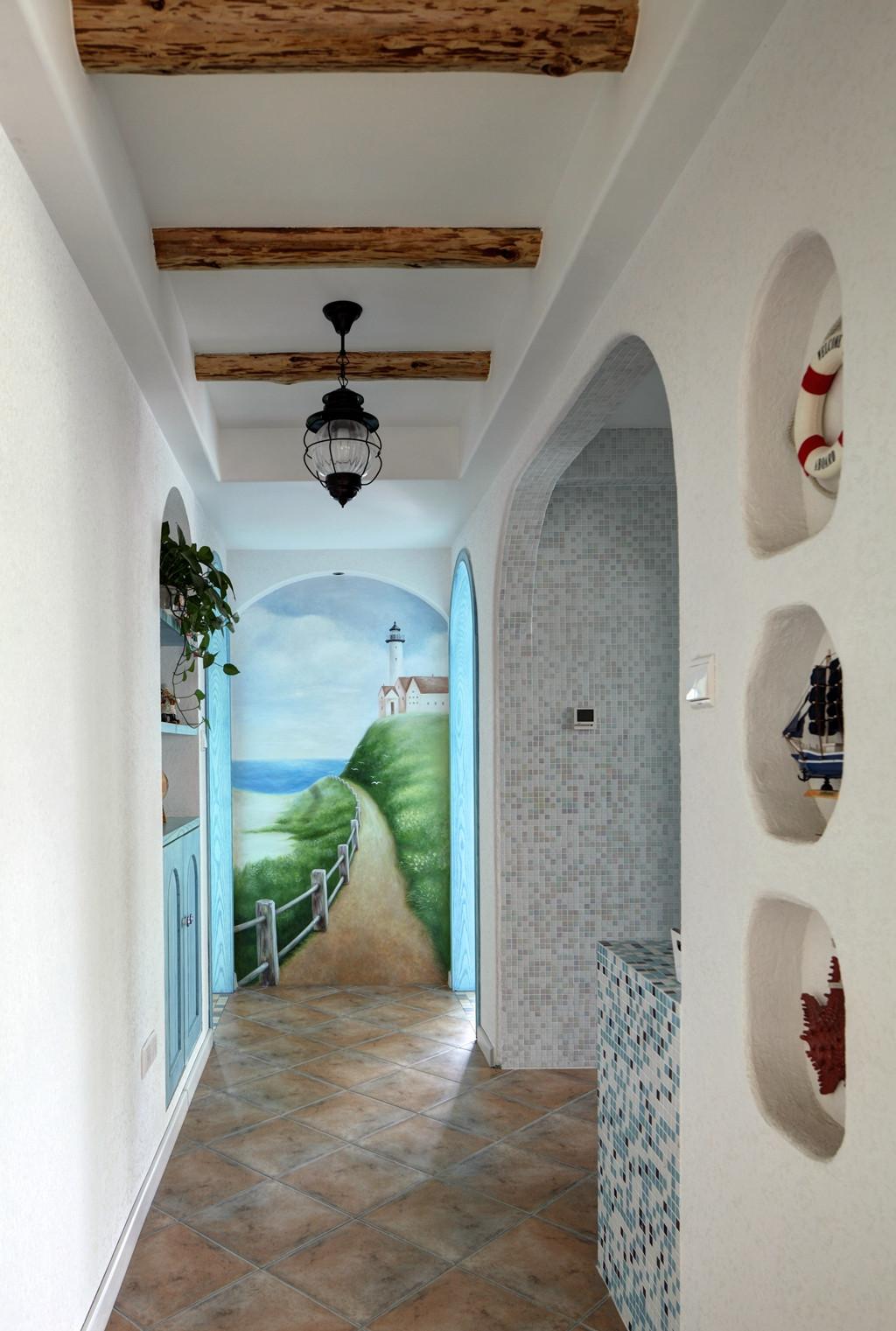 地中海风格复式装修过道吊顶