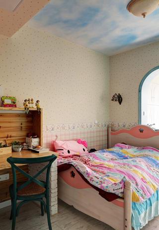 地中海风格复式装修女孩房设计图