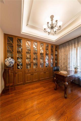 现代美式风格复式装修书房设计图