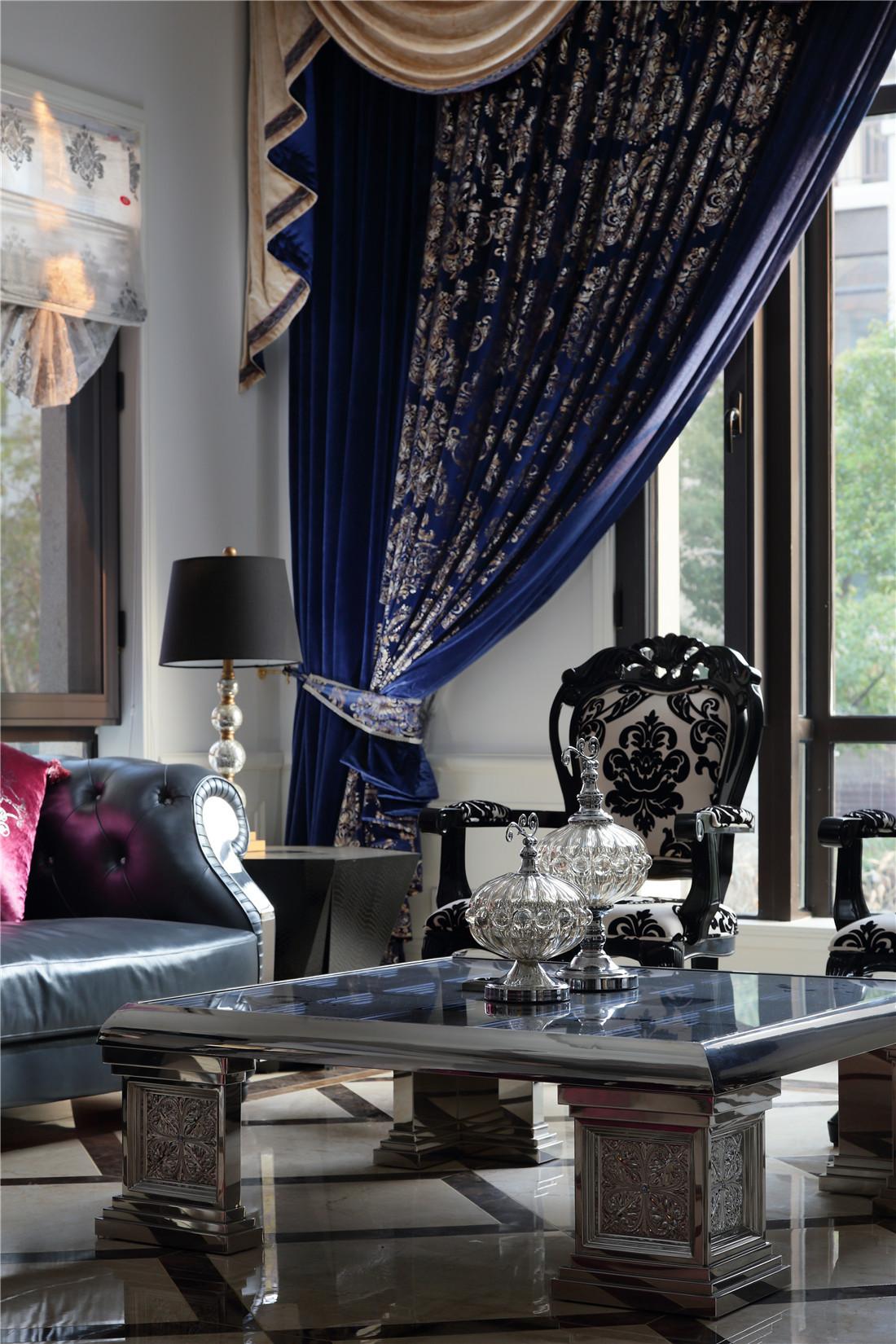 新古典风格别墅装修窗帘图片