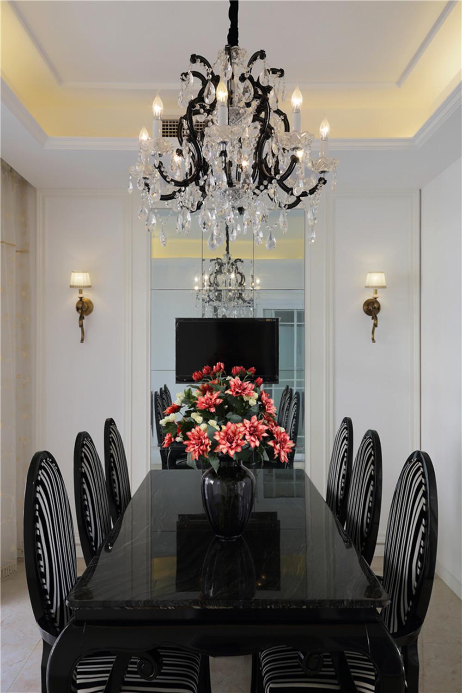 新古典风格别墅装修餐桌图片