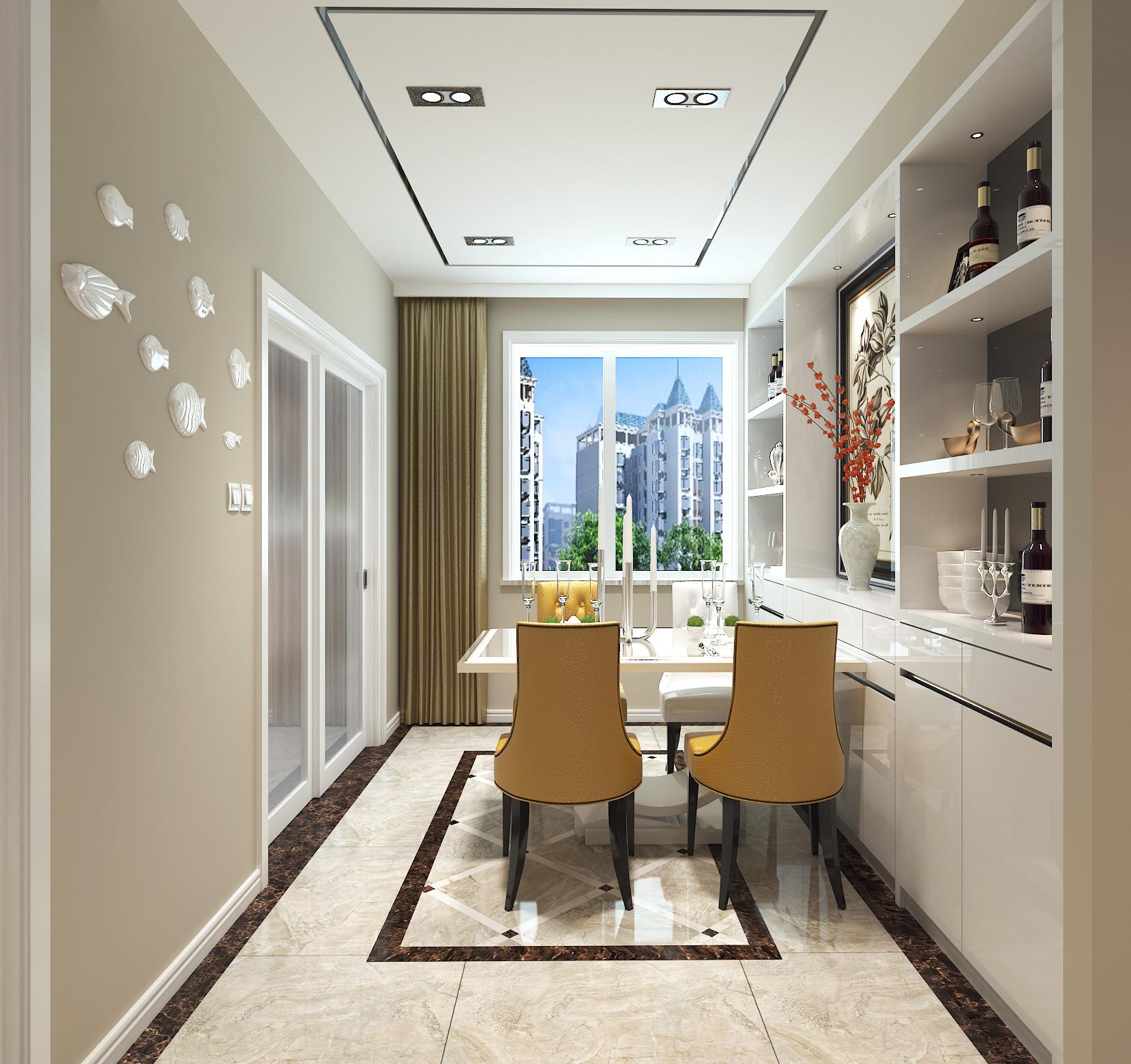 110平时尚现代风装修餐厅效果图