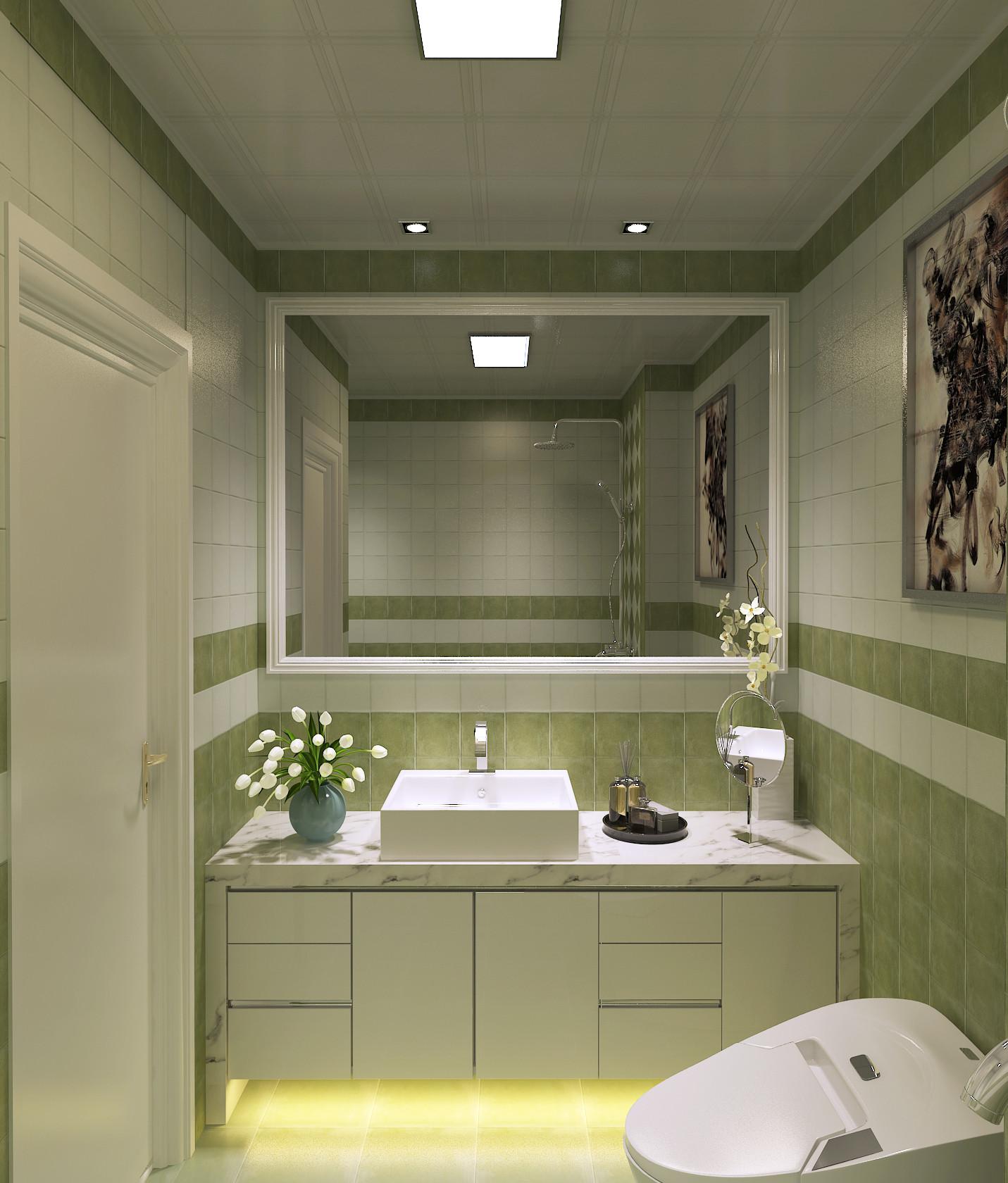 现代简约装修浴室柜图片