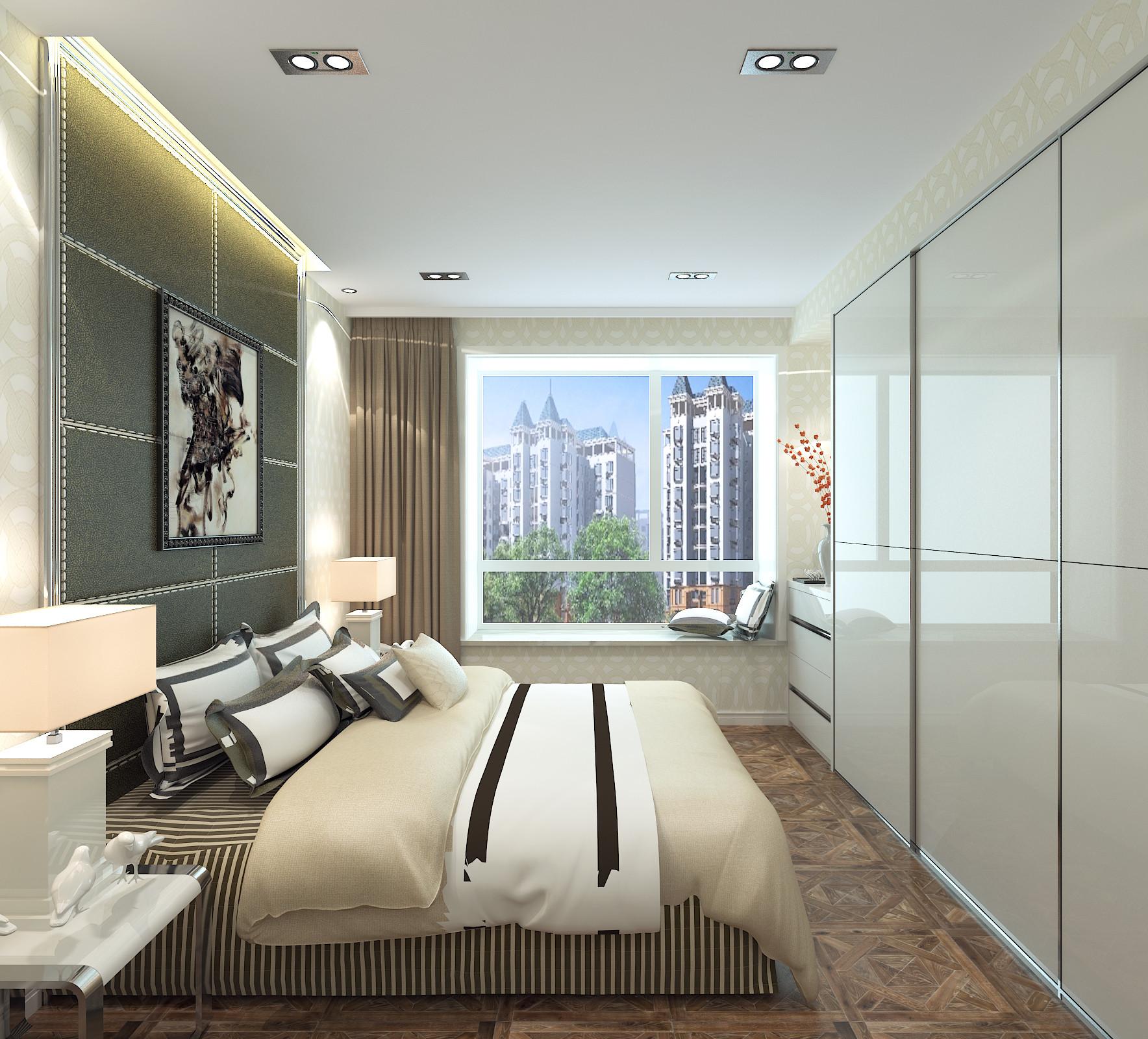 110平时尚现代风装修卧室效果图