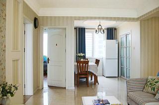美式风格三居装修餐厅布置图